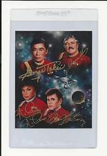 Takei, Doohan, Nichols, Koenig STAR TREK Multi Signed Auto 4x5 Photo Autograph