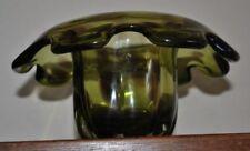 Green Mid-Century Modern Art Glassware Date-Lined Glass
