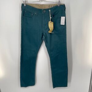 Bullhead Gravels Slim Denim Skinny Cotton Jeans Green Size 32 x 30 Mens  New