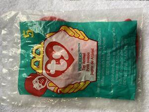 New Unopened McDonald's Teenie Beanie Babies Pincher 1998