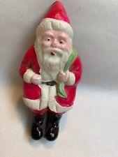 "Vtg Celluloid Santa Claus Christmas Decoration Japan 3.5"" Tall #D"