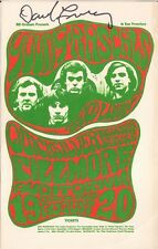 Young Rascals, Quicksilver Messenger Post Card BG024PC * by Bill Graham Signed