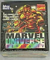 1993 MARVEL UNIVERSE IV Four 4 - Skybox Factory Sealed 180 Card Collectors Set
