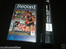 AFL THE RECORD AUSTRALIAN VHS VIDEO VOLUME 2 ISSUE 2 AUSSIE RULES