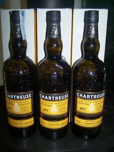 Lot 3 x Chartreuse jaune reine des liqueurs 2019 2020 2021 export yellow bottle