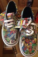 New Vans Era X Marvel AVENGERS Comic Collage Print Iron Man Spider Kids Shoe 1