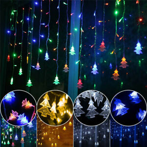 5m Plug In Icicle Garland Fairy String Curtain Light Holiday Wedding Party Decor