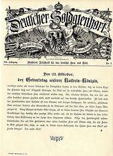 Unserer Kaiserin-Königin zum Geburtstag am 22.Oktober Glückwünsche 1895