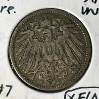 1896-A Germany 1 Mark Silver Coin XF/AU Condition