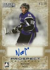 2014-15 ITG Heroes and Prospects Prospect Autographs Gold #64 Nathan Noel 1/10