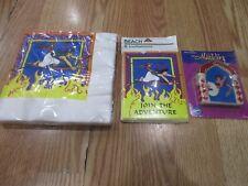3pc Lot 1992 Beach Aladdin Multi-color Birthday Party Goods NOS