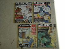 A SUIVRE Mensuel de la BD n° 190 + 192 + 193 + 194- Lot de 4 revues