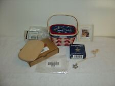 New Longaberger 2001 Inaugural Basket American Lid Protector Tie-On Natural
