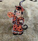 "Repro Vintage 1900s Boy,Costume Holds JOL Halloween Mini Decoration,2"" TO 3"""