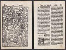 1496 Jesus Christus Apostel Christ Schedel Incunable Inkunabel Holzschnitt