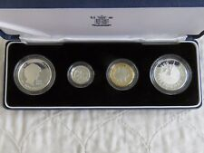 1999 UK FAMILY 4 COIN SILVER PROOF COLLECTION WITH 2 CROWNS - complete