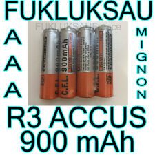 4 x PILES AAA | PILES ACCUS RECHARGEABLE MIGNON 900mAh Ni-MH 1,2V R3 LR03 NEW