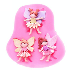 Fairy Fairies Silicone Mould Cake Fondant Chocolate Icing Baking Decor Square