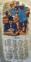 Vintage 1970 Netherlands Linen Calendar Towel