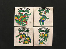 MUTANT NINJA TURTLES OFFICIAL1990 VINTAGE STICKERS MADE IN ITALY
