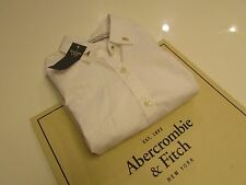 NWT AUTHENTIC  Abercrombie & fitch Collar Studs Button-up Shirt / XS / White