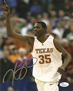 Kevin Durant Signed AUTO 8x10 Photo Texas Longhorns NBA MVP Warriors COA JSA