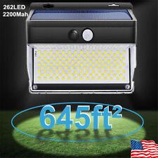 New listing 262 Led Outdoor Solar Power Wall Lamp Motion Sensor Security Flood Garden Light