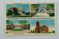 Vintage 1955 Greetings from Syracuse University New York NY Postcard