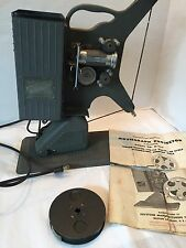 Keystone Movie graph Projector D-752 W/papers,movie Reel Christmas Title