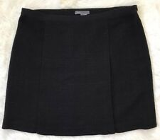 Vince Skirt Sz 8 Black Plaid Felt-like Material Fall Winter Womens Designer EUC