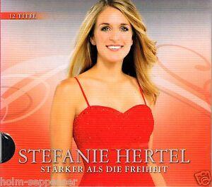 CD Stefanie Hertel Stärker als die Freiheit Pappschuber Deutsch Schlager Neu OVP