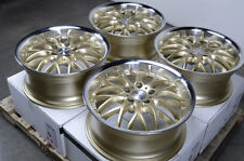 """17"""" Wheels Rims Gold 5x112 E320 E550 S350 S430 Volkswagen Phaeton Passat Rabbit"""