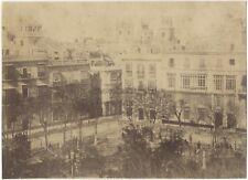 Cadix Place Espagne Photo Vintage Albumine c1875
