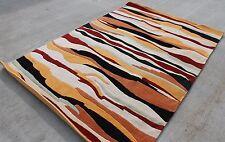 R451 Gorgeous Bold Stripe Colorful Tibetan Area Rug 6' X 9' Handmade in Nepal