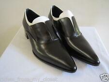 PRADA Black/White Laceless Pointy Toe Oxfords Shoes Size 40/10, New w/o Box