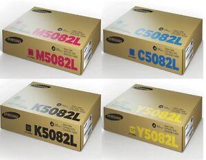 4x ORIGINAL Toner SAMSUNG CLP-670nd CLX-6220FX CLX-6250FX / K5082L C5082L M5082L