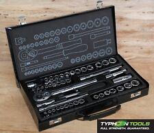 "TYPHOON TOOLS 1/4"" + 3/8"" Drive Socket Set 45 Pc AF & Metric - Lifetime Warranty"
