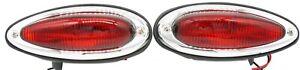Tail Light Assembly, Teardrop, U.S. Red, Set L & R, Porsche 356A,356B,356C