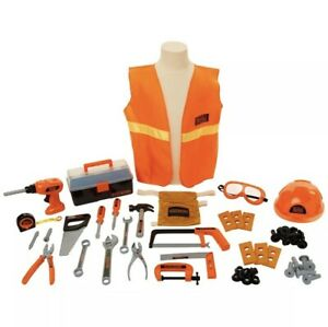 Black & Decker Junior Carpenter Tool Set 50 Tools & Accessories Toy Kids Pretend