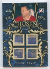 17/18 IN THE GAME-USED CHOSEN FEW QUAD PATCH DOUG HARVEY 1/1 CANADIENS *51997