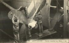 Cleaning Propellers Steamship Helices Saint Nazaire France c1915 Postcard