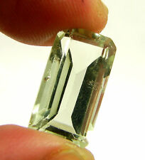 9.60 Ct Natural Green Amethyst Loose Emerald Cut Gemstone Stone - 13501