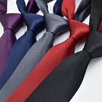 New Fashion Classic Striped Tie Jacquard Woven Men's Silk Suits Ties Necktie