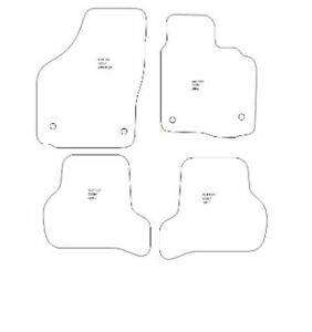 Seat Leon 05/2005 to 2209 Fully Tailored 4 Piece Car Mat Set 4 Clips