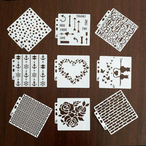 4Pcs/Set New Layering Stencils Painting For DIY Card Sticker Making/Scrapbooking
