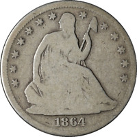 1864-S Seated Half Dollar - Civil War Date Great Deals Executive Coin BBHE5811