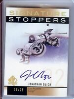 Jonathan Quick 2012-13 SP Authentic Signature Stoppers Auto Kings #SS-JQ 10/25