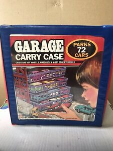 1984  TARA 72 1/64 CAR GARAGE CARRY CASE USED MADE USA FOR HOT WHEELS & MATCHB