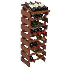 Wooden Mallet 24 Bottle Dakota Wine Rack with Display Top Mahogany NEW
