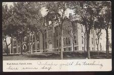 Postcard CARROLL Iowa/IA  High School Campus Building view 1907